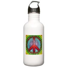 Abstract Peace Sign Water Bottle