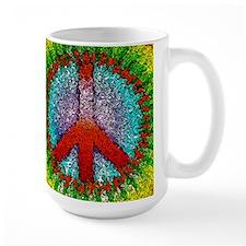 Abstract Peace Sign Mug
