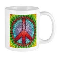 Abstract Peace Sign Small Mug