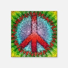 "Abstract Peace Sign Square Sticker 3"" x 3"""