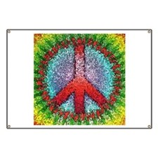 Abstract Peace Sign Banner