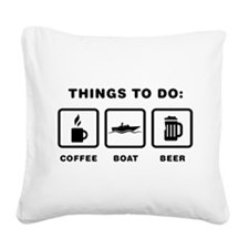 Boating Square Canvas Pillow