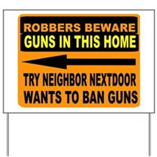 GUN SIGN Yard Sign