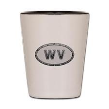 WV Metal Shot Glass