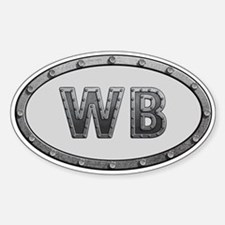 WB Metal Sticker (Oval)
