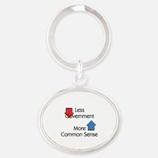 Less Government Oval Keychain