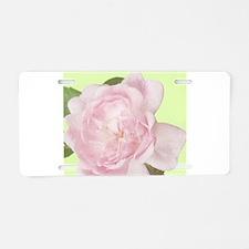 Pink rose Aluminum License Plate