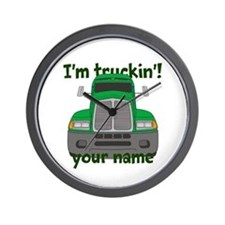Personalized Im Truckin Wall Clock