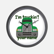 Personalized Im Truckin Wall Clock