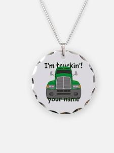 Personalized Im Truckin Necklace