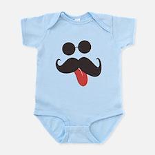 Mustache and Sunglasses Infant Bodysuit