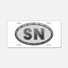 SN Metal Aluminum License Plate