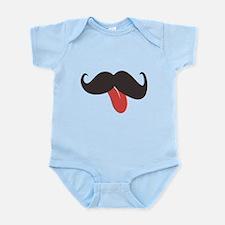 Mustache and Tongue Infant Bodysuit