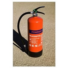 Dry powder fire extinguisher Poster