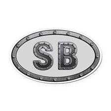 SB Metal Oval Car Magnet