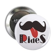 "Mustache Rides 2.25"" Button"