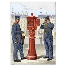 Early fire brigade street alarm Poster