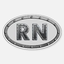 RN Metal Decal
