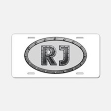 RJ Metal Aluminum License Plate