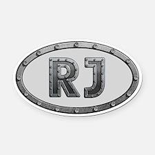RJ Metal Oval Car Magnet