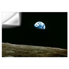 Earthrise over Moon, Apollo 8 Wall Decal
