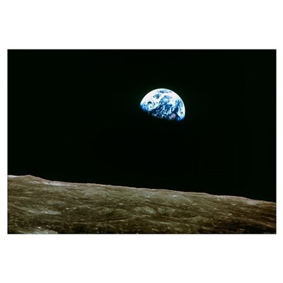 Earthrise over Moon, Apollo 8 Canvas Art