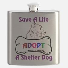Save A Life Adopt A Shelter Dog Flask