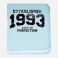 Established 1993 - Aged to perfection baby blanket