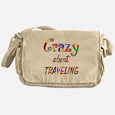 Crazy About Traveling Messenger Bag