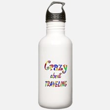 Crazy About Traveling Water Bottle