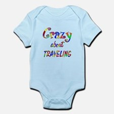 Crazy About Traveling Onesie