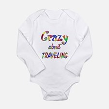 Crazy About Traveling Long Sleeve Infant Bodysuit