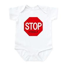 Stop Angela Infant Bodysuit