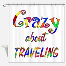 Crazy About Traveling Shower Curtain