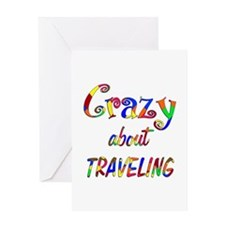 Crazy About Traveling Greeting Card