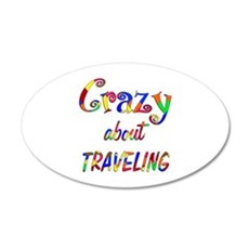Crazy About Traveling Wall Decal