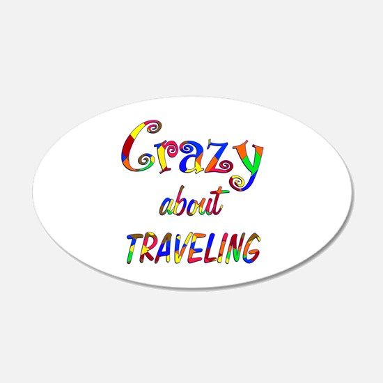 Crazy About Traveling Decal Wall Sticker