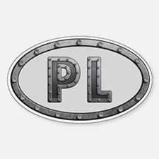 PL Metal Sticker (Oval)