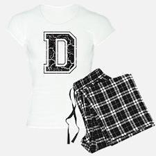 Letter D in black vintage look Pajamas
