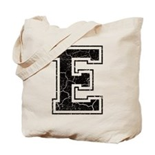 Letter E in black vintage look Tote Bag