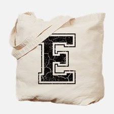 Letter E in black vintage look Tote Bag