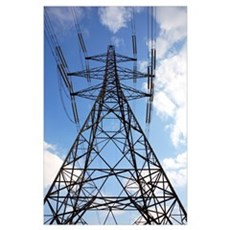 Electricity pylon Poster