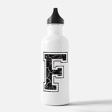 Letter F in black vintage look Water Bottle