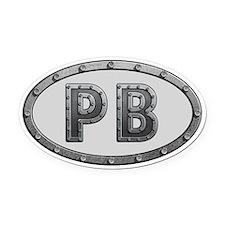 PB Metal Oval Car Magnet