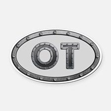 OT Metal Oval Car Magnet