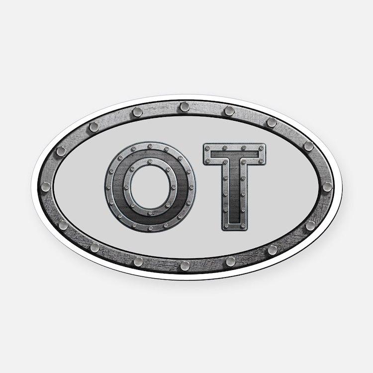 OT Metal Oval Car Magnet