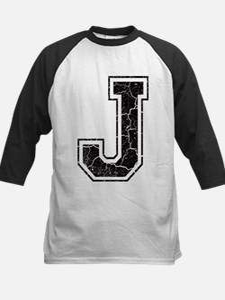 Letter J in black vintage look Tee
