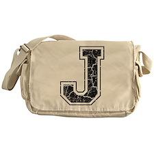 Letter J in black vintage look Messenger Bag