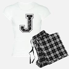 Letter J in black vintage look Pajamas