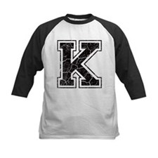 Letter K in black vintage look Tee
